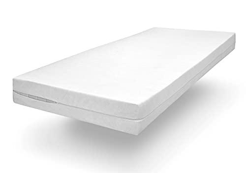 sleepling Komfort 100 Evolon Encasing Matratzenbezug Allergiker | Allergie & Anti Milben Schutz für Hausstauballergiker | Matratzen bis 20 cm | 95 Grad Kochfest | Made in Germany | 90 x 200 cm, weiß