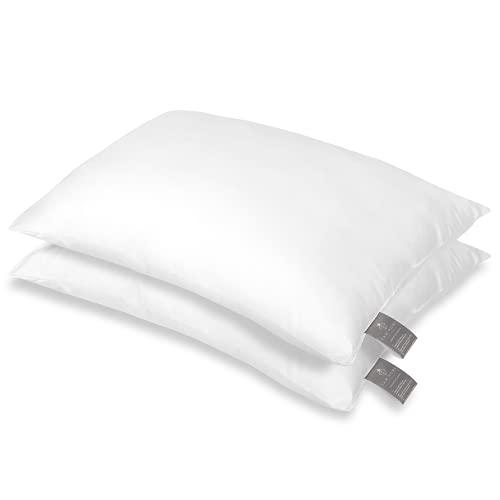 FAM Home Kissen 80x80 2er Set Weiches Mikrofaser - Kopfkissen 80x80 Allergiker mit Optimaler Stütze für Nacken und Kopf - Innenkissen Atmungsaktiv Feuchtigkeitsregulierend Antibakteriell