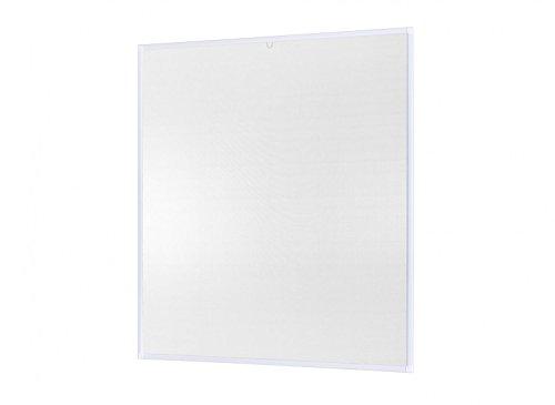 empasa Insektenschutz Fenster Basic 120 x 140 cm mit Alurahmen in Weiß, Braun und Anthrazit, Fliegengitter als Selbstbausatz