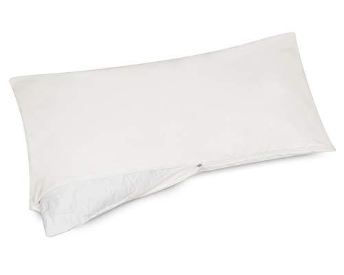 allsaneo Premium Encasing Kissenbezug 40x80 cm, Allergiker Bettwäsche extra weich und leicht, Anti-Milben Zwischenbezug für Kissen