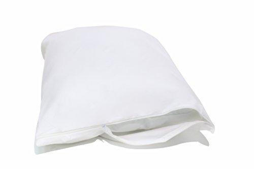 Allersoft Bettwanzen-, Staubmilben- und Allergiekontroll-Kissenschutzumhüllung aus 100 % Baumwolle, 60 x 80 cm