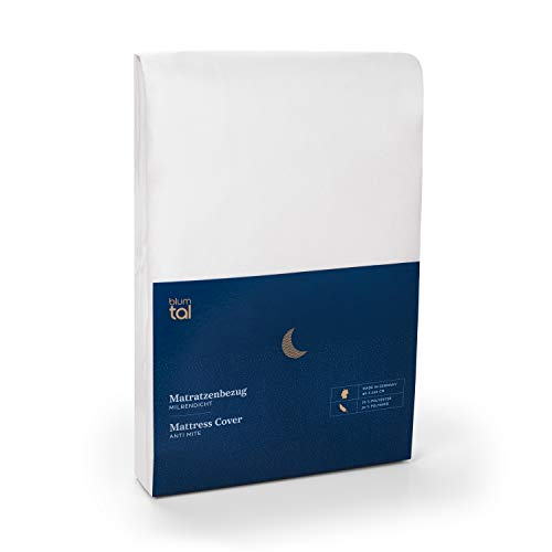 Blumtal 2X Matratzenbezug für Allergiker 90 x 200cm, Milbenbezug - Matratzenschutz Encasing, atmungsaktiv