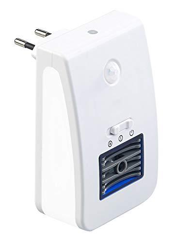 newgen medicals Ozongenerator: 2in1-Ionisator-Luftreiniger & Nachtlicht, PIR- & Lichtsensor, bis 20m² (Steckdosen Ionisator)