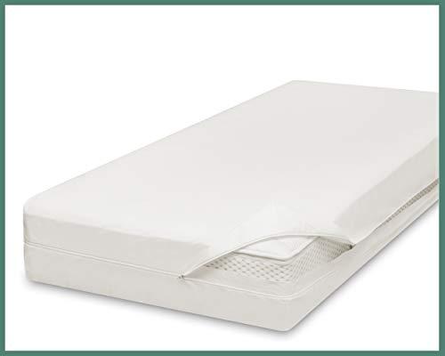 allsaneo Premium Encasing Matratzenbezug 100x200x20 cm, Allergiker Bettwäsche extra weich und leicht, Anti-Milben Zwischenbezug für Matratze