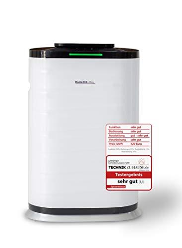 Comedes Lavaero 1200 - Leistungsstarker 4-Stufen Luftreiniger inkl. Aktivkohle, HEPA-Filter und Ionisator | Räume bis 70m², CADR 600m³/h | Luftqualitätssensor | Ideal für Allergiker und Raucher