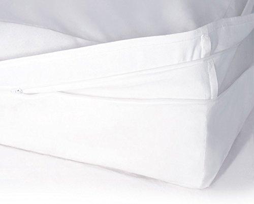 Softsan Protect Plus Matratzenbezug milbendicht 100x200x25 cm, Höhe 25 cm, Encasing, Milbenschutz für Hausstauballergiker milbenkotdicht