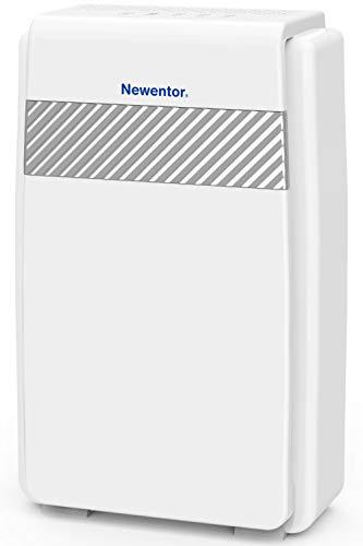 Newentor Luftreiniger Hepa Aktivkohlefilter, CADR 218m³/h gegen Allergie, Pollen, Staub, 5-in-1 Filtersystem mit Ionisator, Luftreiniger für Allergiker Raucher, Wohnung Schlafzimmer bis zu 40㎡