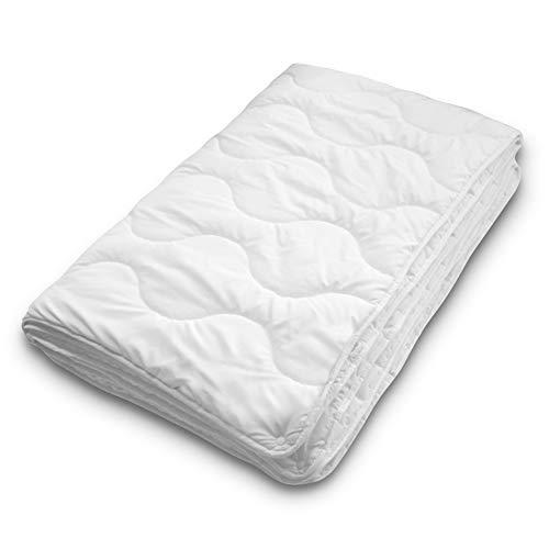 Siebenschläfer 4-Jahreszeiten Bettdecke 135x200 cm - bestehend aus Zwei zusammengeknöpften Steppdecken - Oberbett für Sommer und Winter (135 x 200 cm - 4 Jahreszeiten Bettdecke)