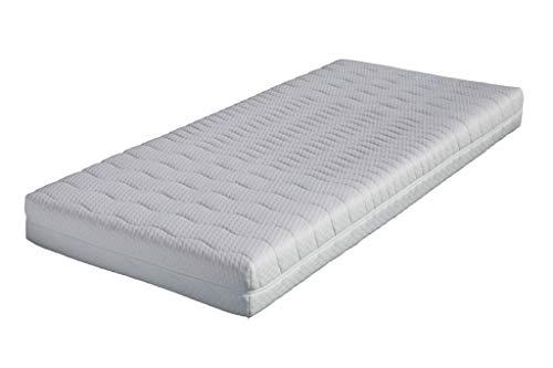 Premium Matratzenbezug FONTANA 90x200 10 -12 cm hoch, Allergiker geeignet - 60 Grad waschbar - 4-seitiger Reißverschluss