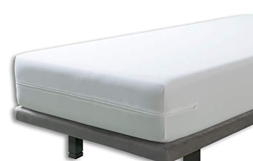 Velfont – Anti-Wanzen-Matratzenbezug mit Reißverschluss, wasserdicht und atmungsaktiv Matratzenüberzug | Antiallergisch, gegen Milben Matratzenschoner – 160 x 200 cm – Matratzenhöhe 30cm
