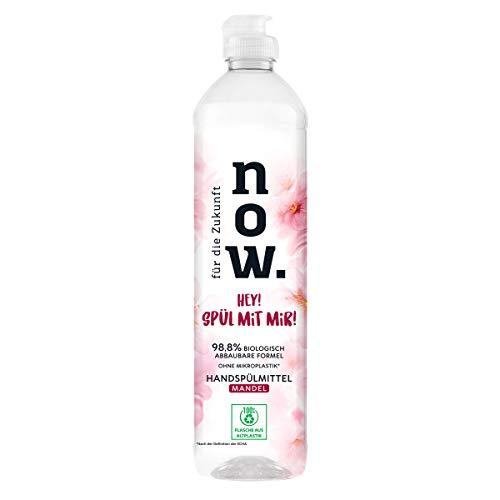 für die Zukunft NOW. Spülmittel Mandel, 550 ml - Spülmittel für empfindliche und sensible Haut, vegan, natürliche Inhaltsstoffe gegen Fett