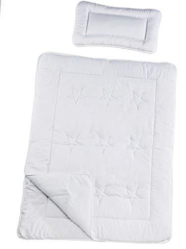 Kuscheli® Kinderbettdecke Kinderbettwäsche 100 x 135 & 40x60 Kopfkissen | Allergiker geeignet & Öko-Tex Zertifiziert | Vier Jahreszeiten Bettdecken Set für Kinderbett, Design - Motiv:Design 1