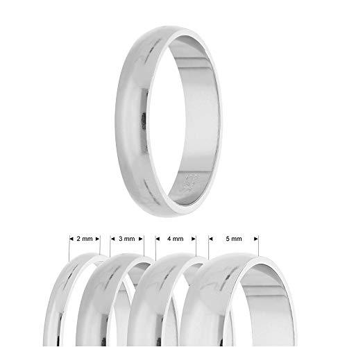 Treuheld® | Ring aus 925 Sterling Silber | Ringgröße 62 | Breite 4mm | Damen & Herren | glänzend | Freundschaftsring, Verlobungsring, Ehering