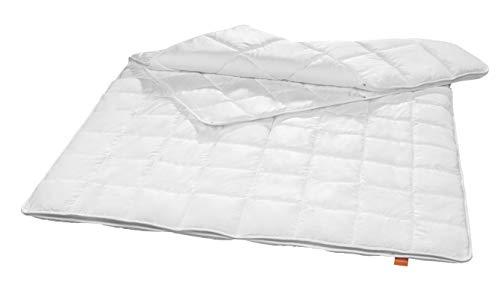 sleepling 197037 antibakterielle Anti Milben Bettdecke (Sanitized®) 4-Jahreszeiten Decke Steppbett (Füllgewicht: 520 + 1.065 gr.), 155 x 220 cm, weiß