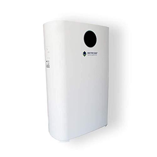 DOCTOR-SAN Luftreiniger 3006 | HEPA H14 Filter entfernt 99,997% der Schadstoffe | CADR 310m³ | bis 50m² Raumgröße | UV-Bestrahlung | Ionisator | 6-fach Filterung | Nachtmodus