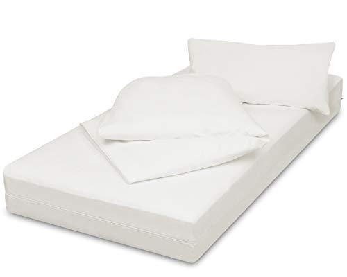 allsana Encasing Set: 90x200x16/135x200/40x80cm, Allergiker Bettwäsche Kissenbezug+Deckenbezug+Matratzenbezug