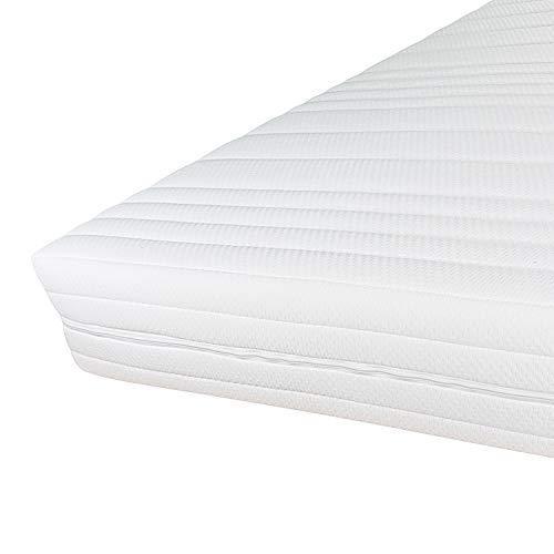 Hochwertiger Matratzenbezug 160x200cm mit Reißverschluss - 20 cm Kernhöhe - Doppeltuch mit Klimafaser versteppt - Allergiker geeignet - Bis 60 Grad waschbar - 160 x 200