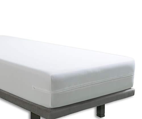 Tural - Wasserdichter und Atmungsaktiver Anti-Milben-Matratzenbezug. Größe 80x190/200cm Matratzenschoner/Matratzen-Auflage Matratzenschoner/Matratzen-Auflage