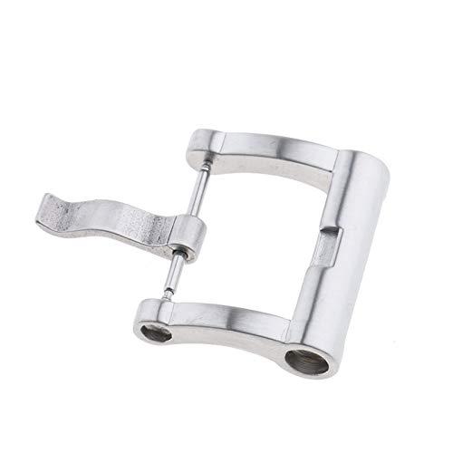 LUOSI Gürtelschnallen 20mm Gebürstetem Stahl Ersatz Pin-Wölbungs-Uhr Schnalle for Uhrenarmband-Straps