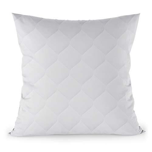 Kopfkissen 80x80 cm Steppkissen Mikrofaser - Kissen für Allergiker füllkissen Bettkissen Schlafkissen weiß Pillow