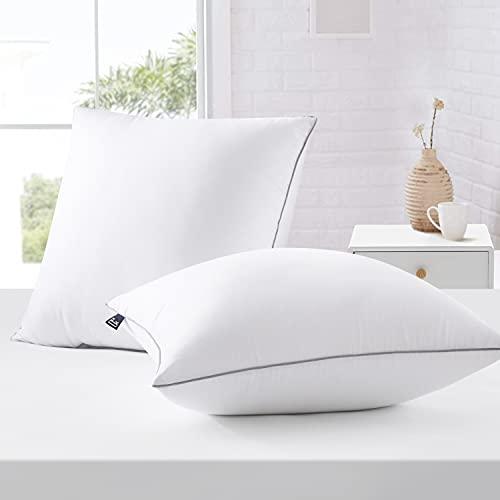 BedStory Kopfkissen 80x80, Kissen 2er Set aus Hochwertigen Mirkofarsen Füllung, Effektive Unterstützung für Alle Schlafpositionen, Bequmer Weicher und Atmungsaktiver Kissen (2er Set 80 x 80 cm)