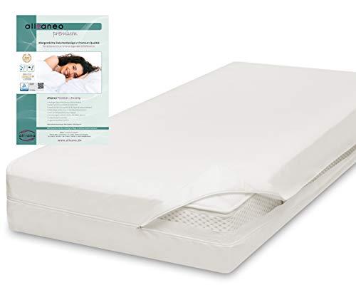 allsaneo Premium Encasing Matratzenbezug 140x200x24 cm, Allergiker Bettwäsche extra weich und leicht, Anti-Milben Zwischenbezug für Matratze