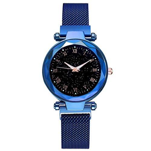 Armbanduhr Damen Uhren Schmuck Quarzuhr Analog Edelstahlarmband Muttertagsgeschenk Geburtstagsgeschenk Mode Frauen Mädchen Quarzuhrnetz mit Magnetschnalle Damenuhr Mode Damenuhr