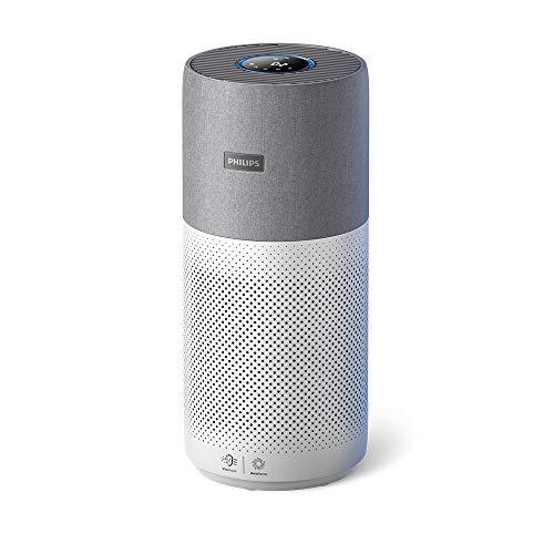 Philips Luftreiniger Serie 3000i mit Echtzeit-Luftqualitäts-Feedback, antiallergen, kombinierter HEPA + Kohlefilter, reduziert Gerüche und Gase – AC3033/30