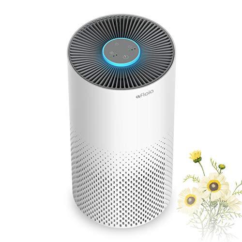 Luftreiniger Allergiker mit H13 HEPA Filter, Afloia klein Air Purifier für 20 m², CADR 130 m³/h, 7 Farben Nachtlicht leiser Schlafmodus, 99,97 % Filterleistung gegen Rauch Staub Gerüche