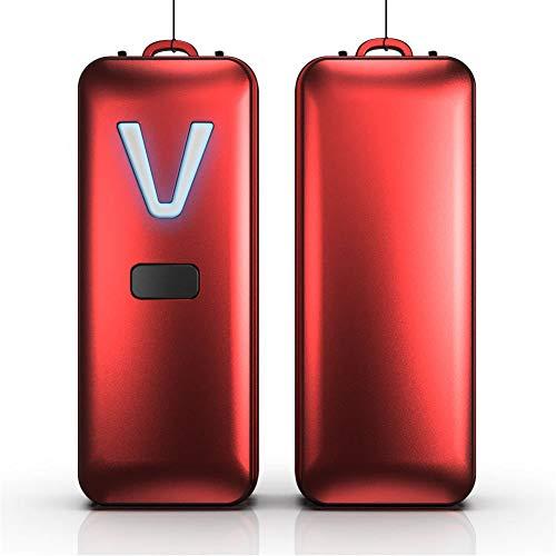 ZZSQ Tragbarer Luftreiniger Halskette 28 Millionen Travel Mini-Ionengenerator Lufterfrischer Für Kinder Und Erwachsene, Beseitigt Rauchgeruch, Gerüche, Staub Polle,Rot