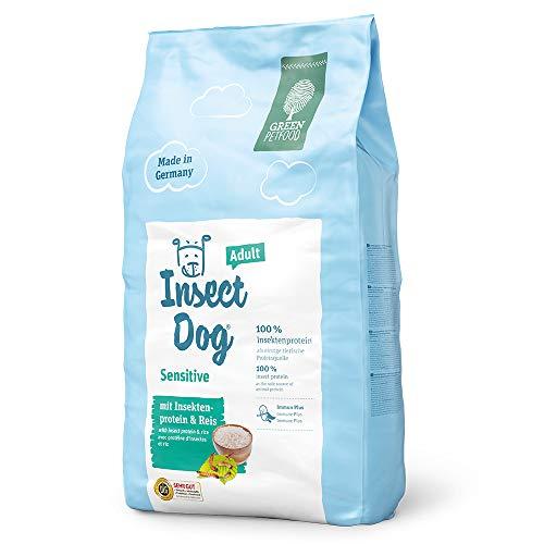 Green Petfood InsectDog Sensitive Adult (1 x 10 kg) | Hundefutter mit Insekten als einzige tierische Proteinquelle | nachhaltiges Trockenfutter für ausgewachsene Hunde | 1er Pack