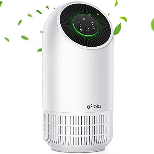 Luftreiniger H13 HEPA Luftfilter für Allergiker, Afloia Air Purifier CADR 100m³/h, bis zu 20㎡ Raucherzimmer, gegen 99,97% von Pollen Staub Rauch, 3 Lüfterstufen Timer leiser Schlafmodus
