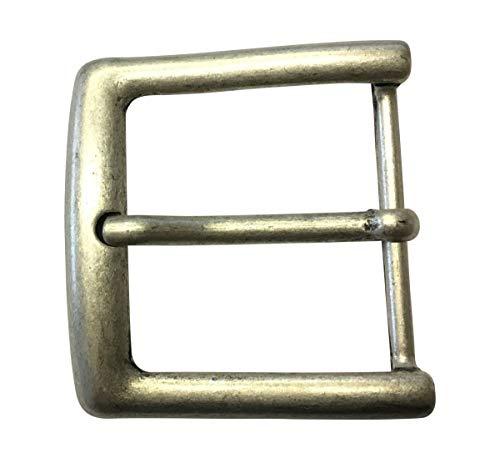 Brazil Lederwaren Gürtelschnalle 4,5 cm | Buckle Wechselschließe Gürtelschließe 45mm Massiv | Dorn-Schließe | Für Wechselgürtel bis zu 4.5cm Breite | Altsilber