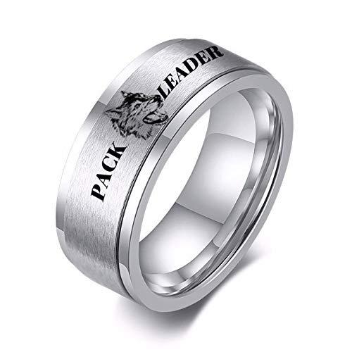 YDMZMS Spinner-Ring für Herren, 8 mm, mit Gravur