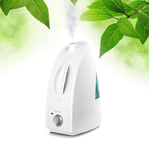 Medisana AH 660 Luftbefeuchter Ultraschall, Luftreiniger für Zimmer bis 30m², Vernebler für Schlafzimmer, Wohnzimmer gegen trockene Luft, 4,5 L
