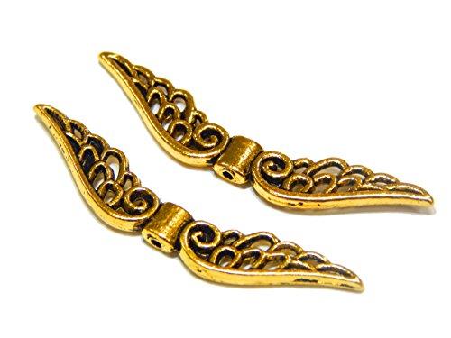 Flügel Engel METALLPERLEN Engelsflügel PERLEN 52mm Metall Spacer Gold BASTELN M435