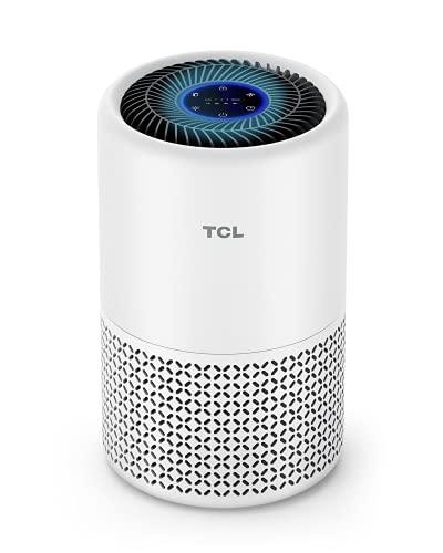 TCL Luftreiniger Air Purifier H13 HEPA bis zu 40m² für Allergiker CADR 230m³/h, Luftqualitätssensor für Wohnung Schlafzimmer 26dB leiser Schlafmodus und Timer gegen Tiergerüche Rauch Pollen Staub A1C
