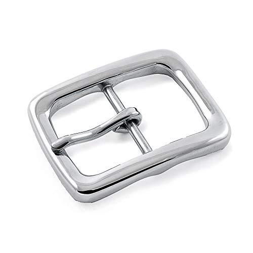 Ganzoo Gürtel-Schnalle für Damen und Herren, Buckle, Gürtel-Schließe aus rostfreiem Edel-Stahl, -, Edelstahllook