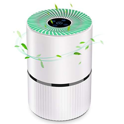 Uarter Luftreiniger HEPA Filter Luftreiniger Desktop Allergie Ionisator mit 4-Lagen Filtration und 3-Timer-Funktion, perfekt für Staub, Haustierallergene, Raucherzimmer, Apartment und Schlafzimmer
