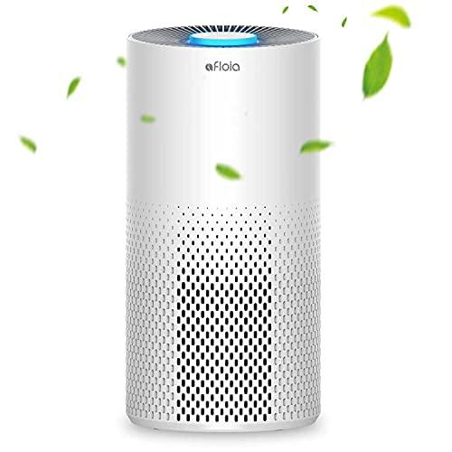 Luftreiniger mit H13 HEPA Aktivkohlefilter Afloia Air Purifier 7 Farben Nachtlicht Leiser Betrieb, 99,97 % Filterleistung gegen Rauch Staub Gerüche Pollen Allergene