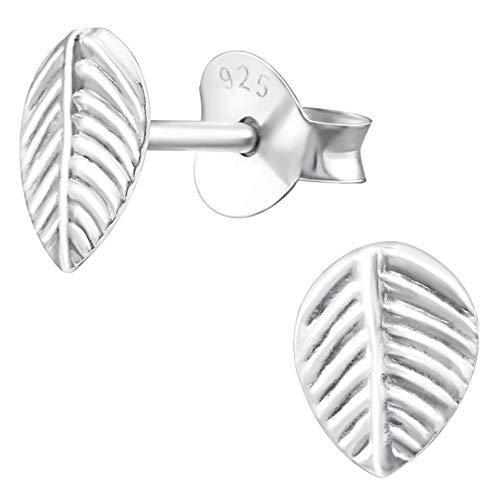 EYS JEWELRY Ohrstecker Damen Blatt Blume 925 Sterling Silber Damen-Ohrringe