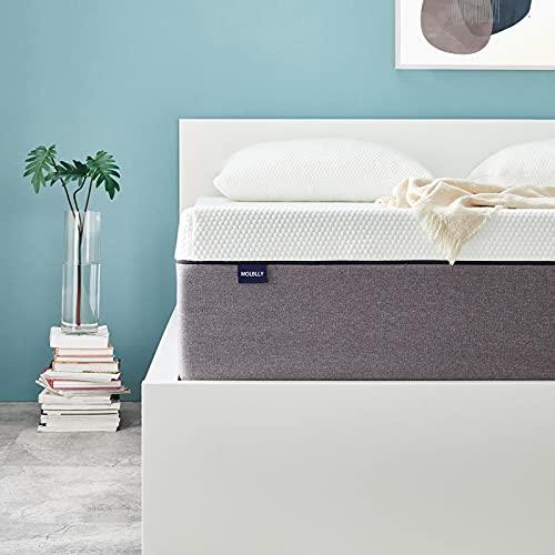 Molblly Matratze 80 x 200cm rollmatratze Matratze in Einer Kiste 7 Zonen Orthopädische 80 x 200cm kaltschaummatratze ergonomische Matratze für erholsamen Schlaf Matratze Höhe 18cm härtegrad H3