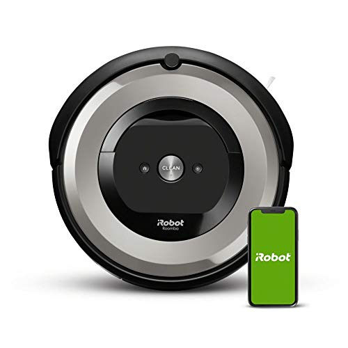 iRobot Roomba e5 (e5154) Saugroboter mit mit 3-stufigem Reinigungssystem, zwei Multibodenbürsten, WLAN Staubsauger Roboter, Ideal für Haustiere, Teppiche und Hartböden, App-Steuerung, Dirt Detect