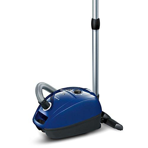 Bosch Staubsauger mit Beutel GL-30 BGL3B110, Bodenstaubsauger, Hygiene-Filter, für Hartboden, Teppich, Fliesen, langes Kabel, Polster-Düse, Fugendüse, platzsparend, 650 W, blau
