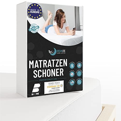 Dreamzie - Matratzenschoner 90 x 190 cm Wasserdicht - Atmungsaktive Matratzenauflage 100% Baumwolle - Moltonauflage Anti-Allergie gegen Milben im Bett Mehr Hygiene - 15 Jahre Garantie