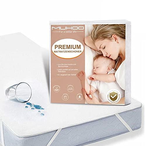MUHOO Matratzenschoner wasserdichte 100 x 200 cm Matratzenauflage Inkontinenz Anti-Allergisch Bettunterlage