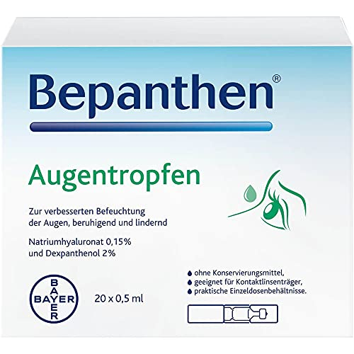 Bayer Bepanthen Augentropfen 20er Pack x 0.5 ml, 20 Stück