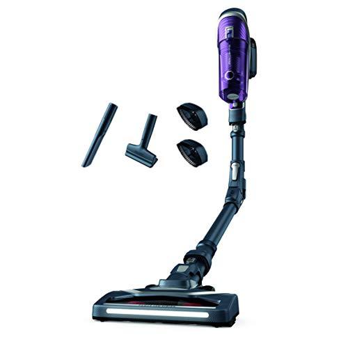Rowenta powered by Bild RH9638 X-Force Flex 8.60 Akku-Staubsauger | Stab-und Handstaubsauger in Einem | LED-Düse | Flex-Gelenk | Allergy-Kit | Easy-Wash-Filter | inkl. Polster-& Fugendüse | Lila/Grau