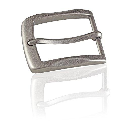 Gürtelschnalle Buckle 40mm Metall Silber Antik - Buckle Gray - Dornschliesse Für Gürtel Mit 4cm Breite - Silberfarben Antik