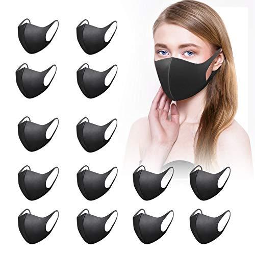 12 Stück Ma&ske Fashion Unisex Wiederverwendbare und waschbare schwarz